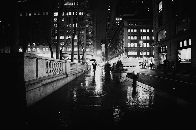 "Photo credit: Flickr, Vivienne Gucwa, ""New York City Rain and Wet Sidewalks"""